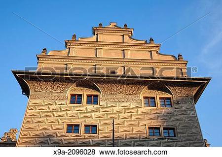 Pictures of Evening Light on Schwarzenberg Palace; Prague, Czech.