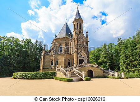 Stock Photography of Crypt and church of the czech royal family.