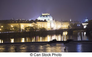 Stock Photography of The famous Schwarzenberg Palace near the.