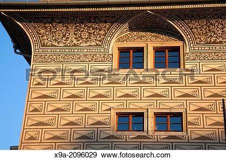 Stock Photograph of Evening Light on Schwarzenberg Palace; Prague.