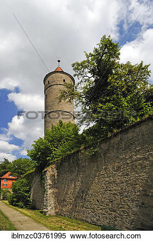 "Stock Image of ""Green Tower, watchtower and prison tower, early."
