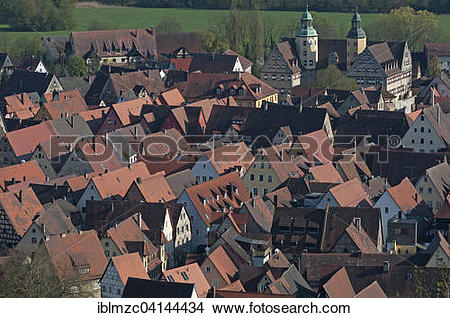 Stock Photo of View from Michelsberg towards the historic centre.