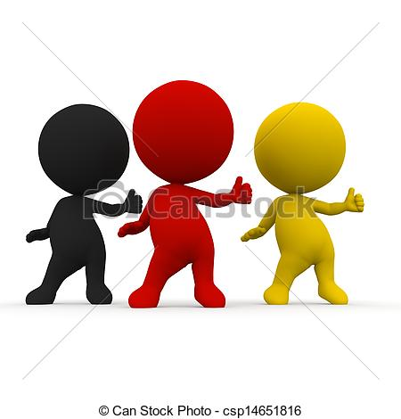 Clipart of election dance competition germany schwarz rot gold 3d.