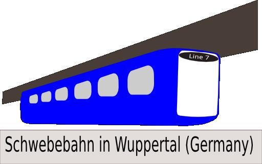 Schwebebahn Clipart.