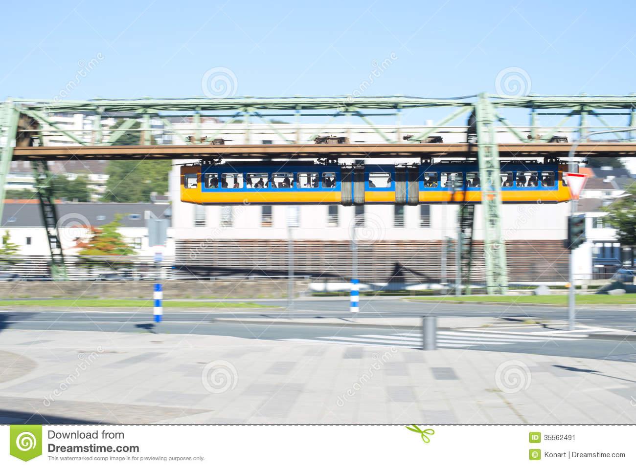 Suspension Railway, Schwebebahn Wuppertal,Germany Stock Image.