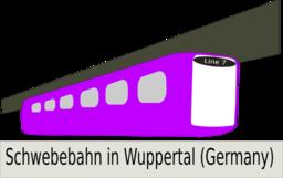 Color Wheel of Schwebebahn clipart.