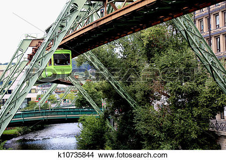 Stock Photo of Wuppertal Schwebebahn k10735844.