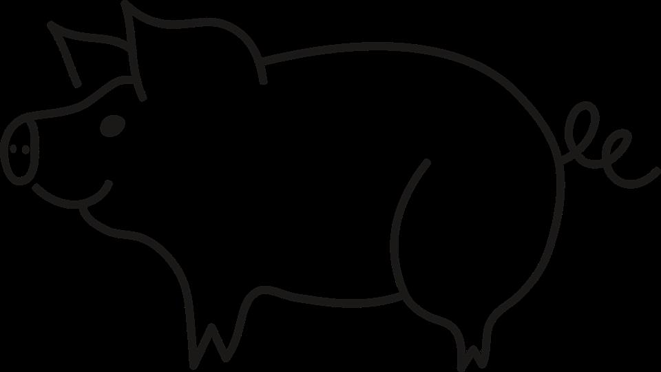 Schwein clipart schwarz weiß 3 » Clipart Station.