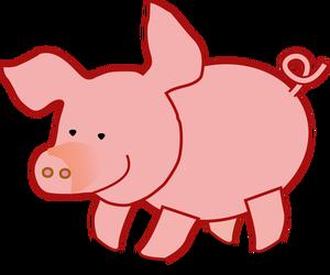 169 Schwein kostenlose clipart.