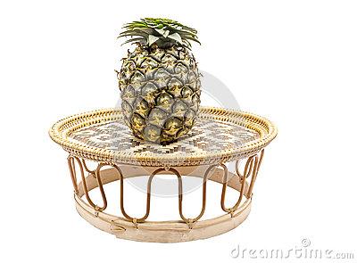 Pineapple On Tray Royalty Free Stock Photo.