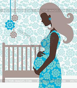 Schwangere frau clipart.