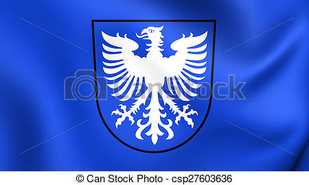 Drawings of Flag of Schweinfurt, Germany. Close Up. csp27603636.