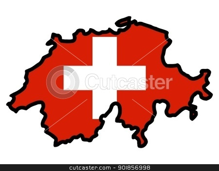 Switzerland map clipart.