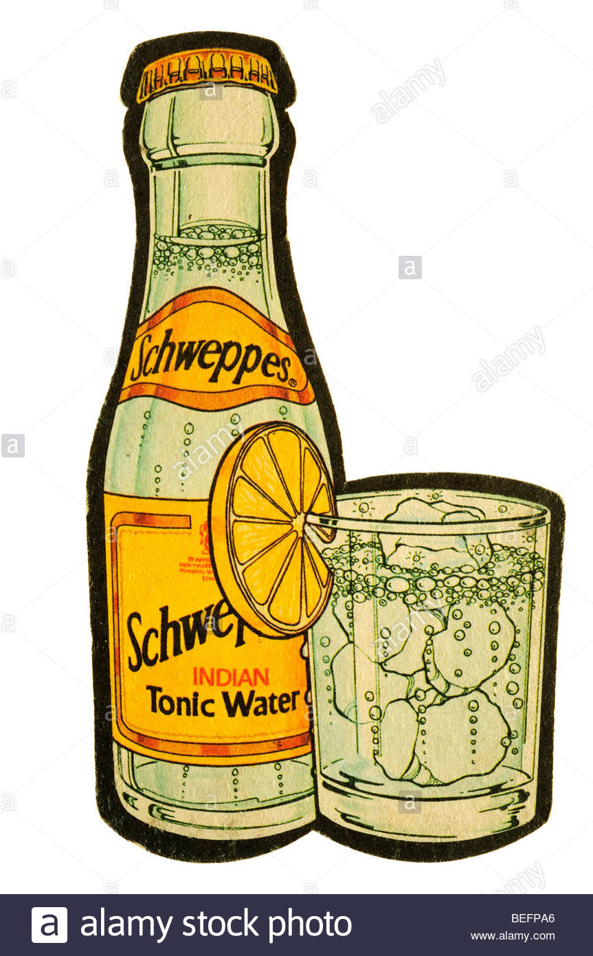 Schweppes Indian Tonic Water Stock Photo, Royalty Free Image.