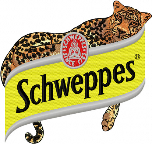 Schweppes Logo Free embroidery design.