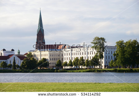 Schwerin Cathedral Stock Photos, Royalty.