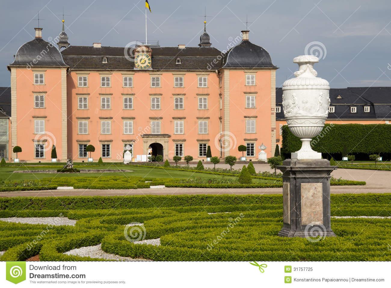 Schwetzingen Castle In Mannheim, Germany Royalty Free Stock Photo.