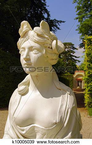 Stock Photograph of Sphinx statue, Schwetzingen Castle, Heidelberg.