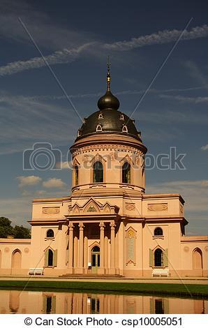 Stock Images of Mosque of Schwetzingen Castle, near Heidelberg.