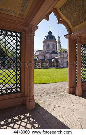 Stock Photography of Red Mosque, Schwetzingen Castle, Schwetzingen.