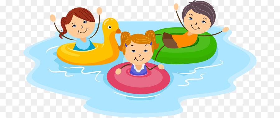 Schwimmen, Kind clipart.