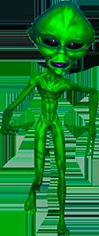Green Alien Clipart.
