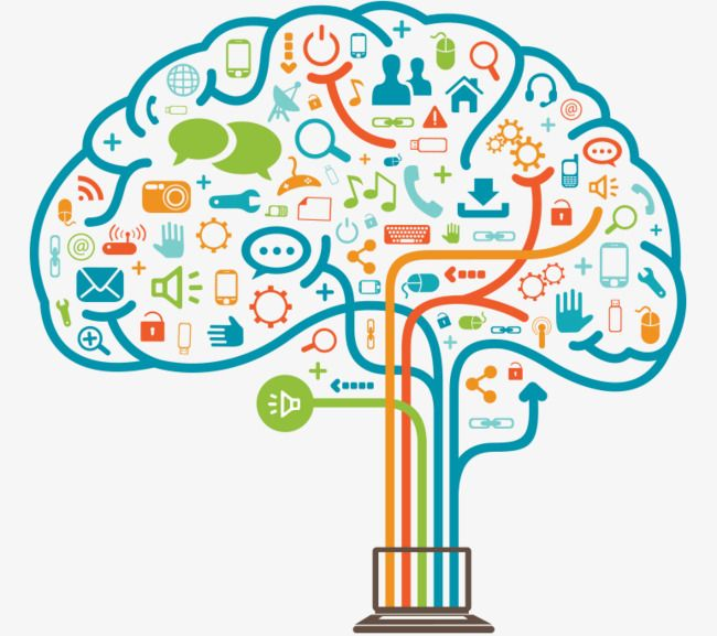 Brain Science And Technology, Brain Clipart, Science Clipart.