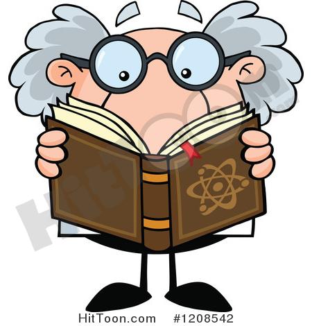 Scientist Clipart #1208542: Science Professor Reading a Book.