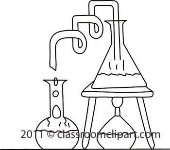 science class clipart black and white #5