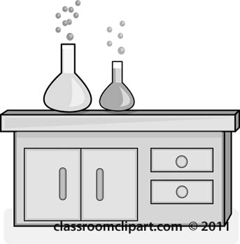 Science Gray and White Clipart: lab.
