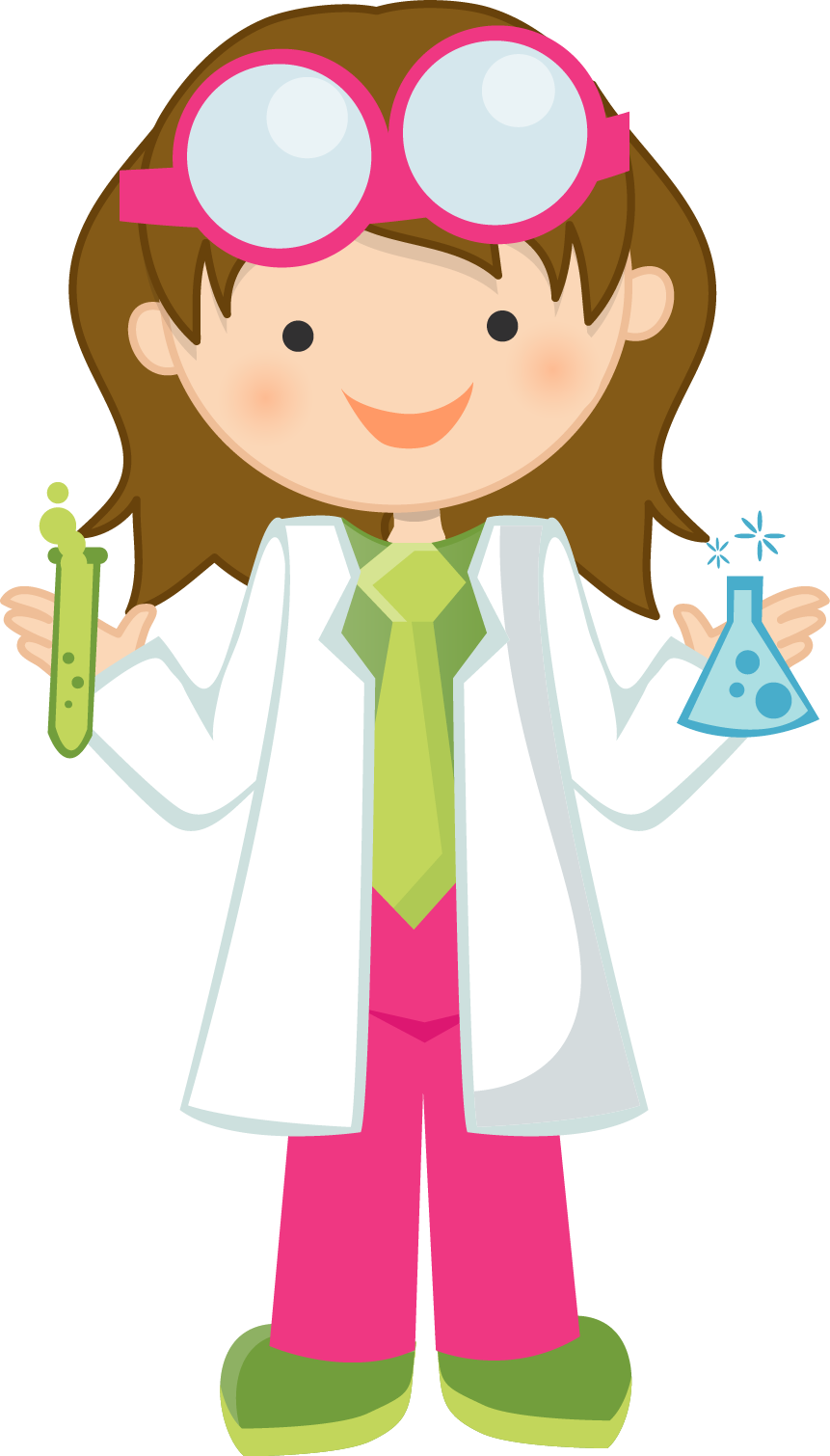Girl Scientist Free Clipart.