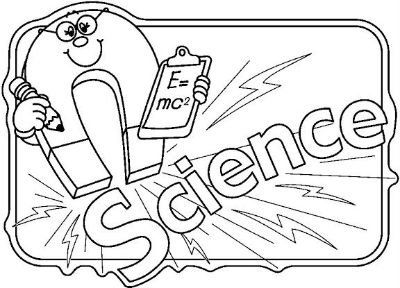 Black And White Science Clipart Sheets 4065.