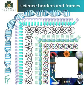 Free Science Frames And Borders Clip Art.