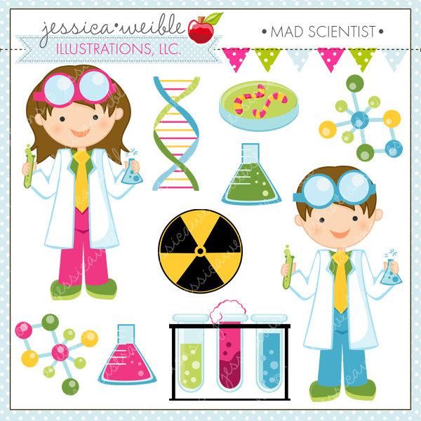 Scientist Kids Cute Clipart, Science Kids, Science Clip art.