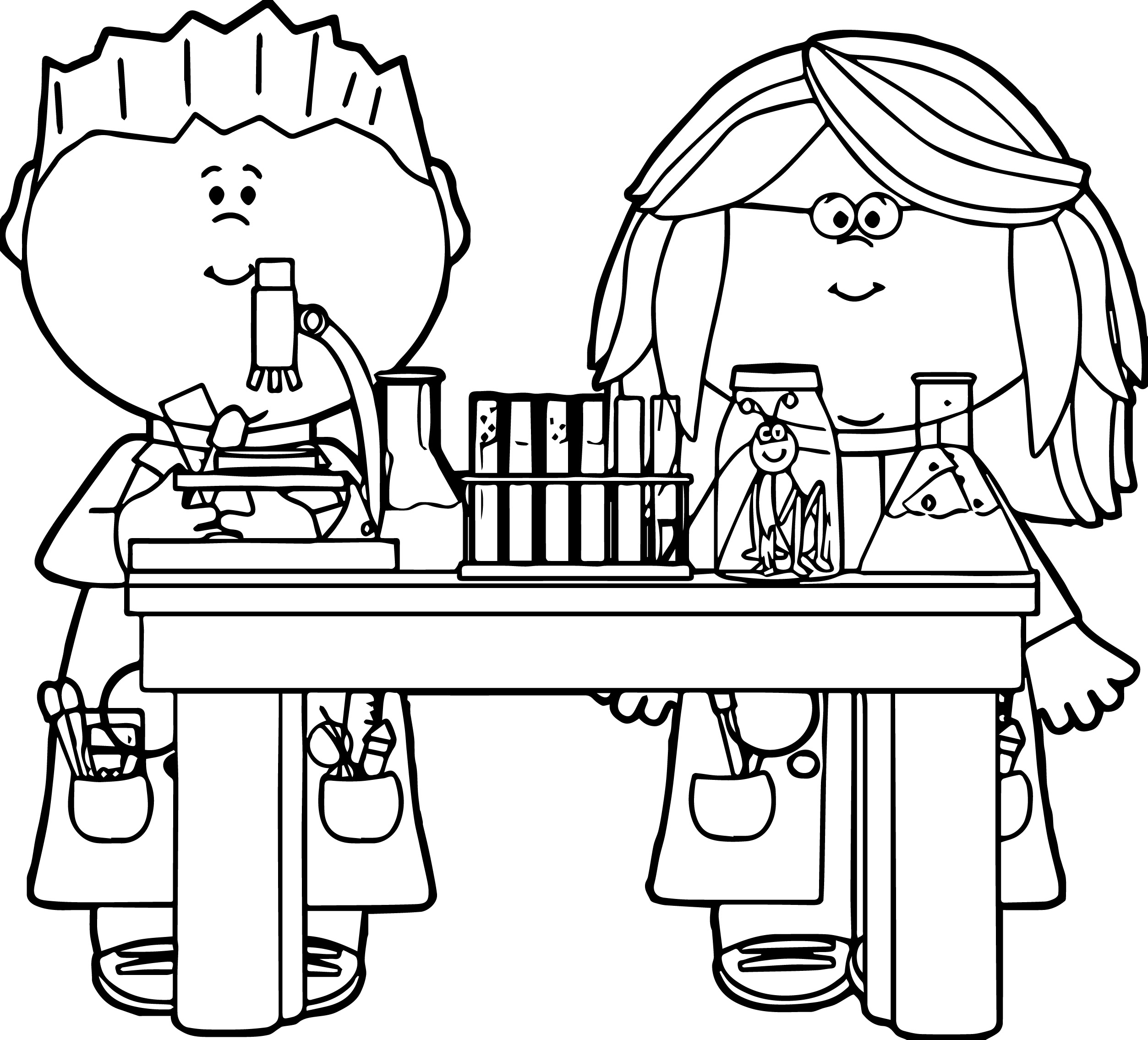 Science clipart for kids black and white clipground Coloring book for very young scientists
