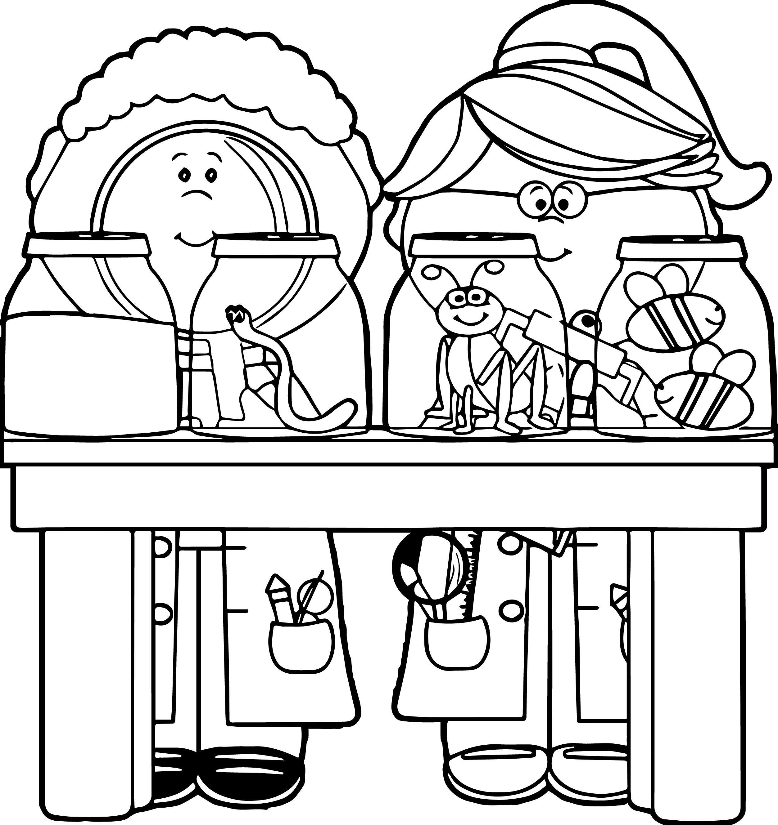 science clipart for kids black and white - Clipground