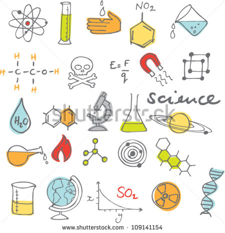 Science Icons Doodles Vector Set Stock Vector 109141154.