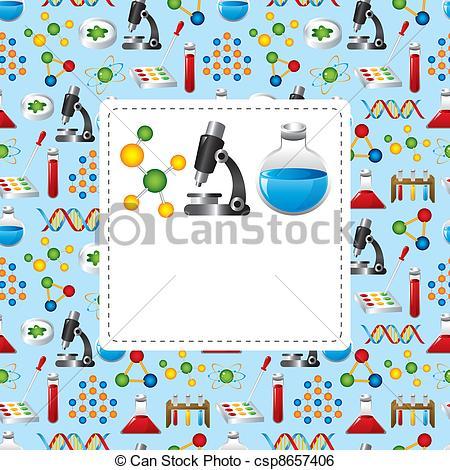 Clip Art Vector of science card csp8657406.