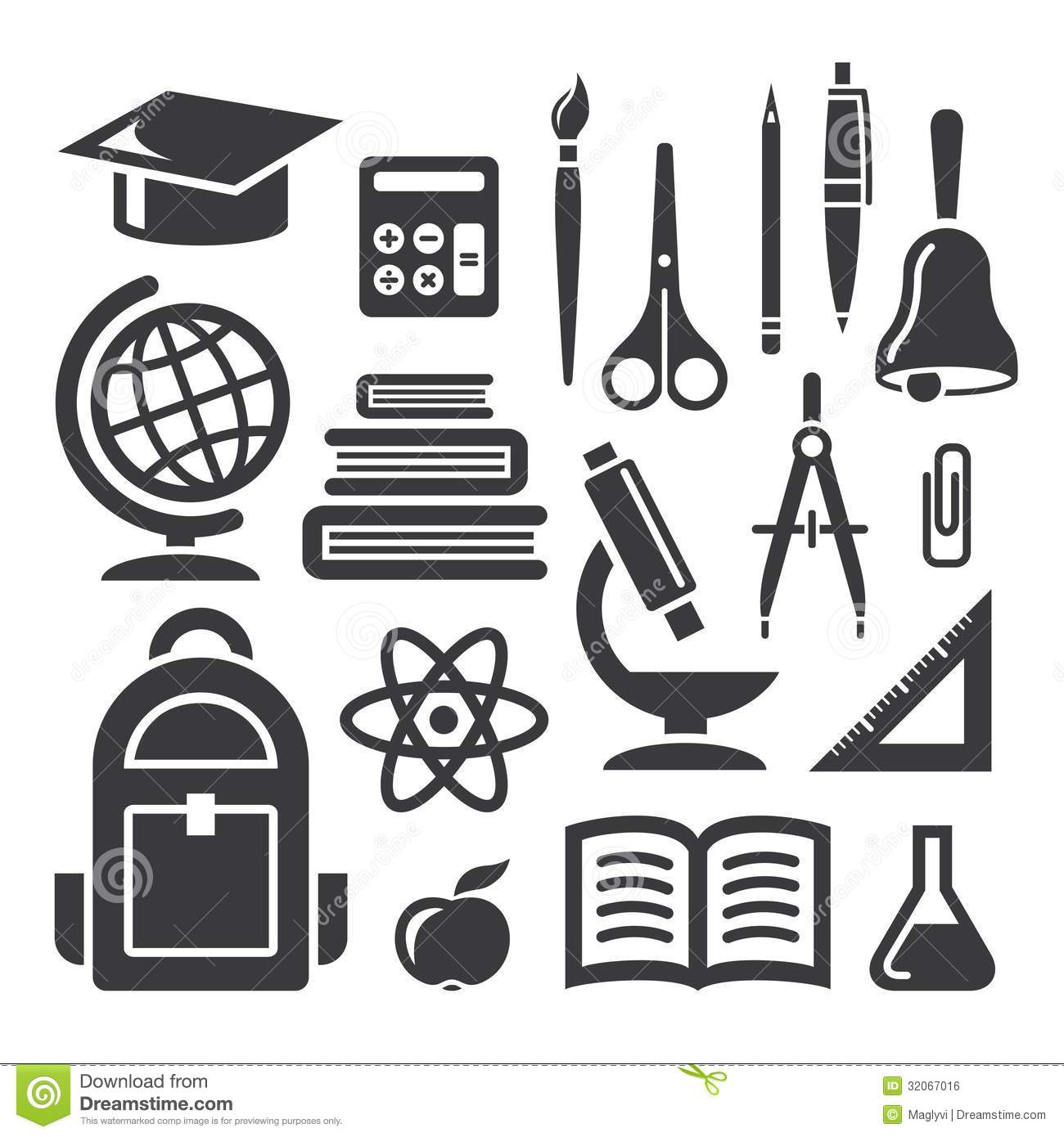 Education And Science Symbols Royalty Free Stock Image.