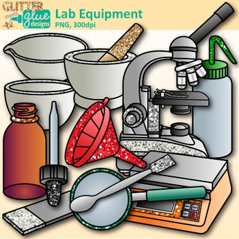 Chemistry Clip Art: Science Lab Equipment & Safety Graphics {Glitter Meets  Glue}.