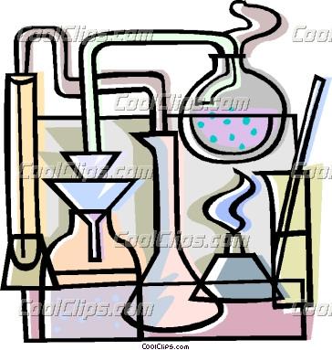 Chemistry Lab Equipment Clipart.
