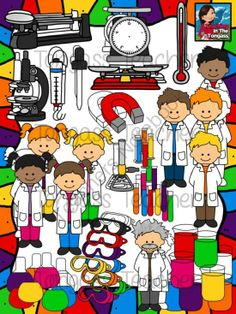 Science Kids Clipart: Science Lab Toolkit.