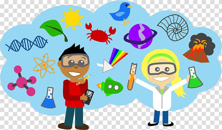 Two boy and girl doing lab experiments illustration, Science.