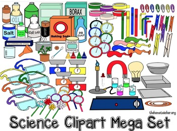 Science Experiment Clipart Set.
