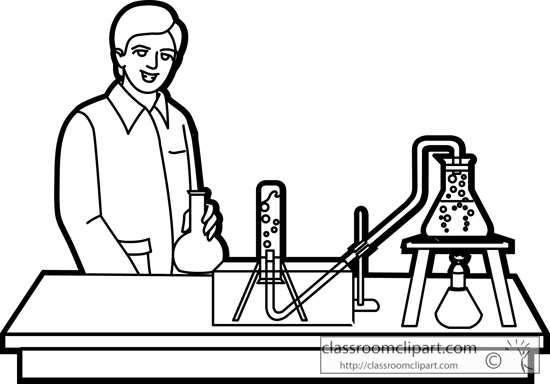 Free Science Lab Clipart Black And White, Download Free Clip.