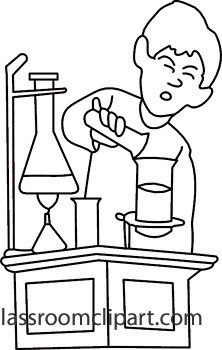 Science Clipart Black And White.