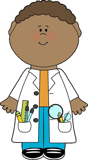 Child Scientist Clip Art Image.