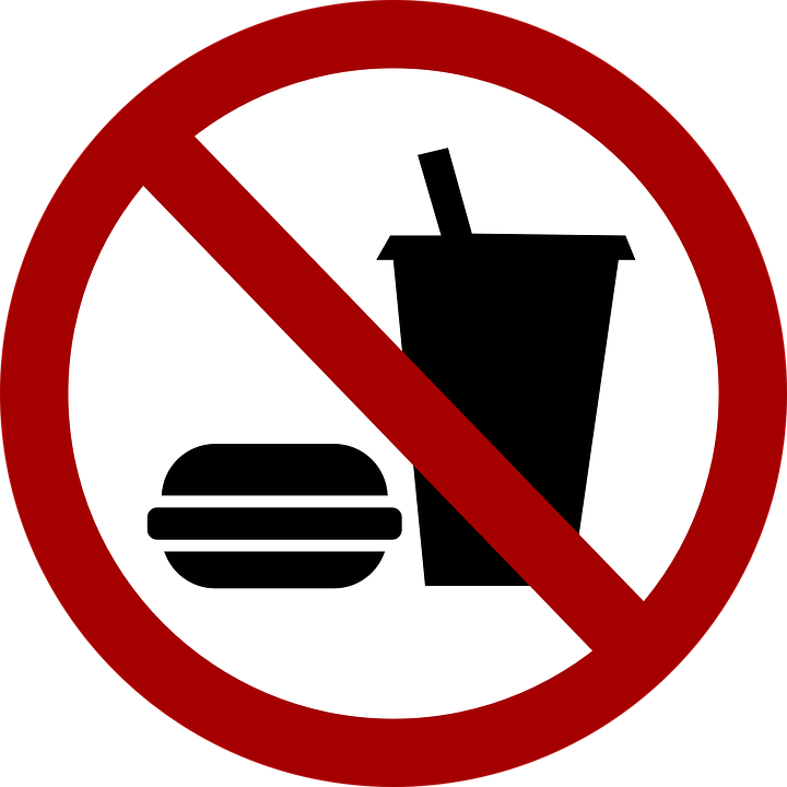 Free vector graphic: No Food, No Eating, Food, Ban.