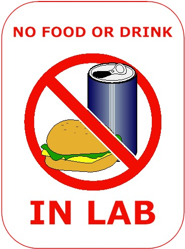 Science Lab No Eating Or Drinking Clipart on Biology Lab Safety Rules