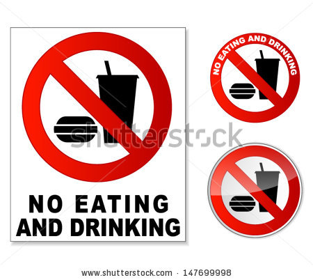 No Food Or Drink Sign Stock Images, Royalty.